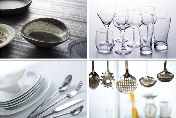 和食器・洋食器・グラス・厨房用品品揃え