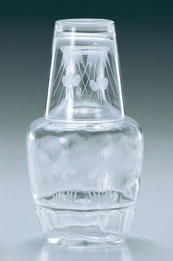 東洋佐々木ガラス 冠水瓶 あやめ