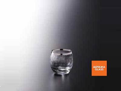 ショットグラス/【青山硝子】バッカス130-3 プラチナ 110cc