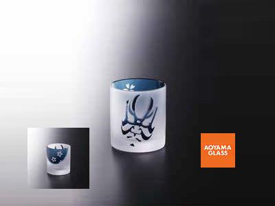 タンブラー/【青山硝子】くまどりグラス・藍 320cc