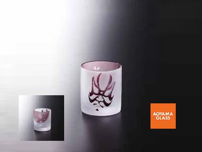 タンブラー/【青山硝子】くまどりグラス・紫 320cc